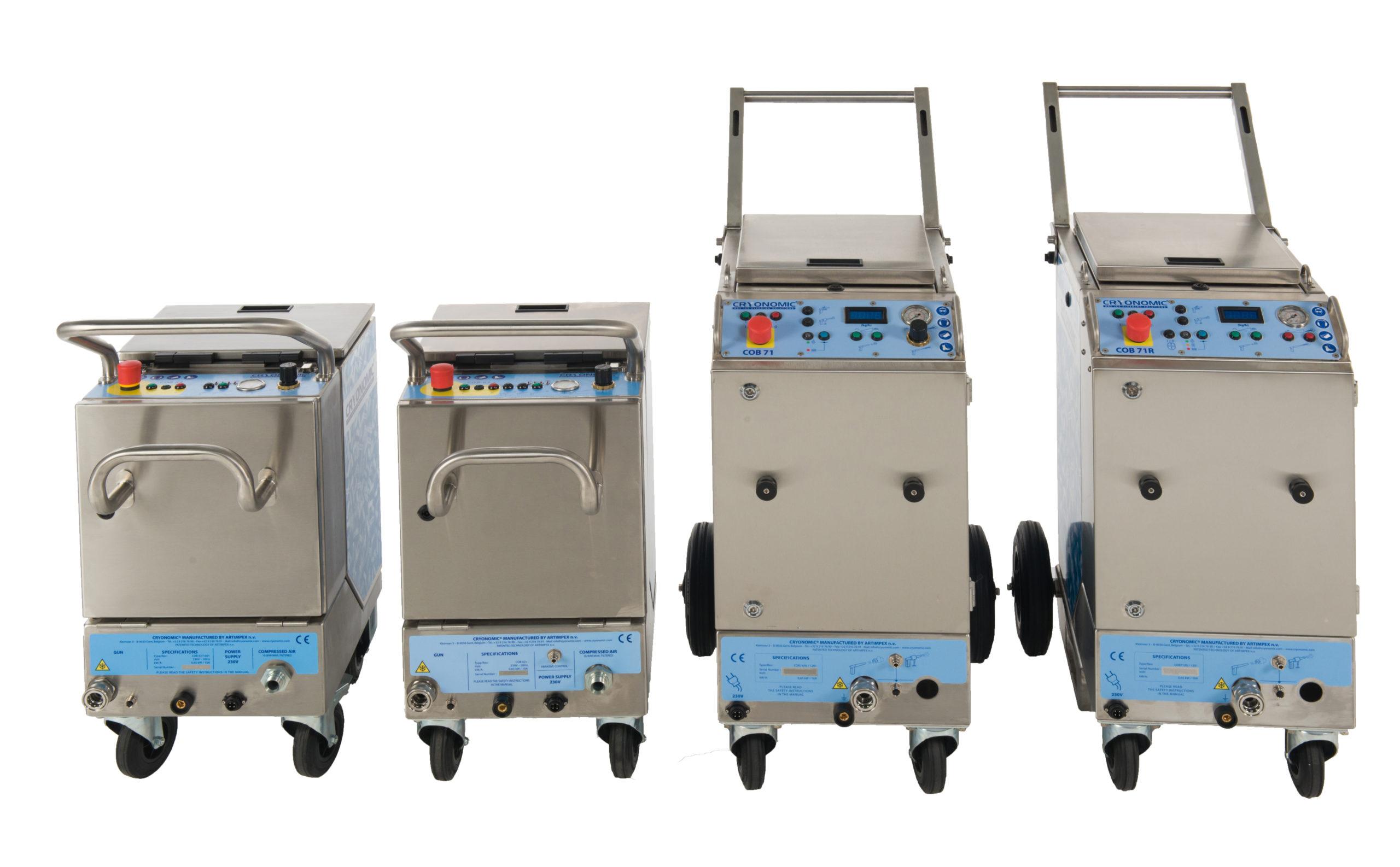 Trockeneisstrahlmaschinen CRYONOMIC COB und COMBI-Serie