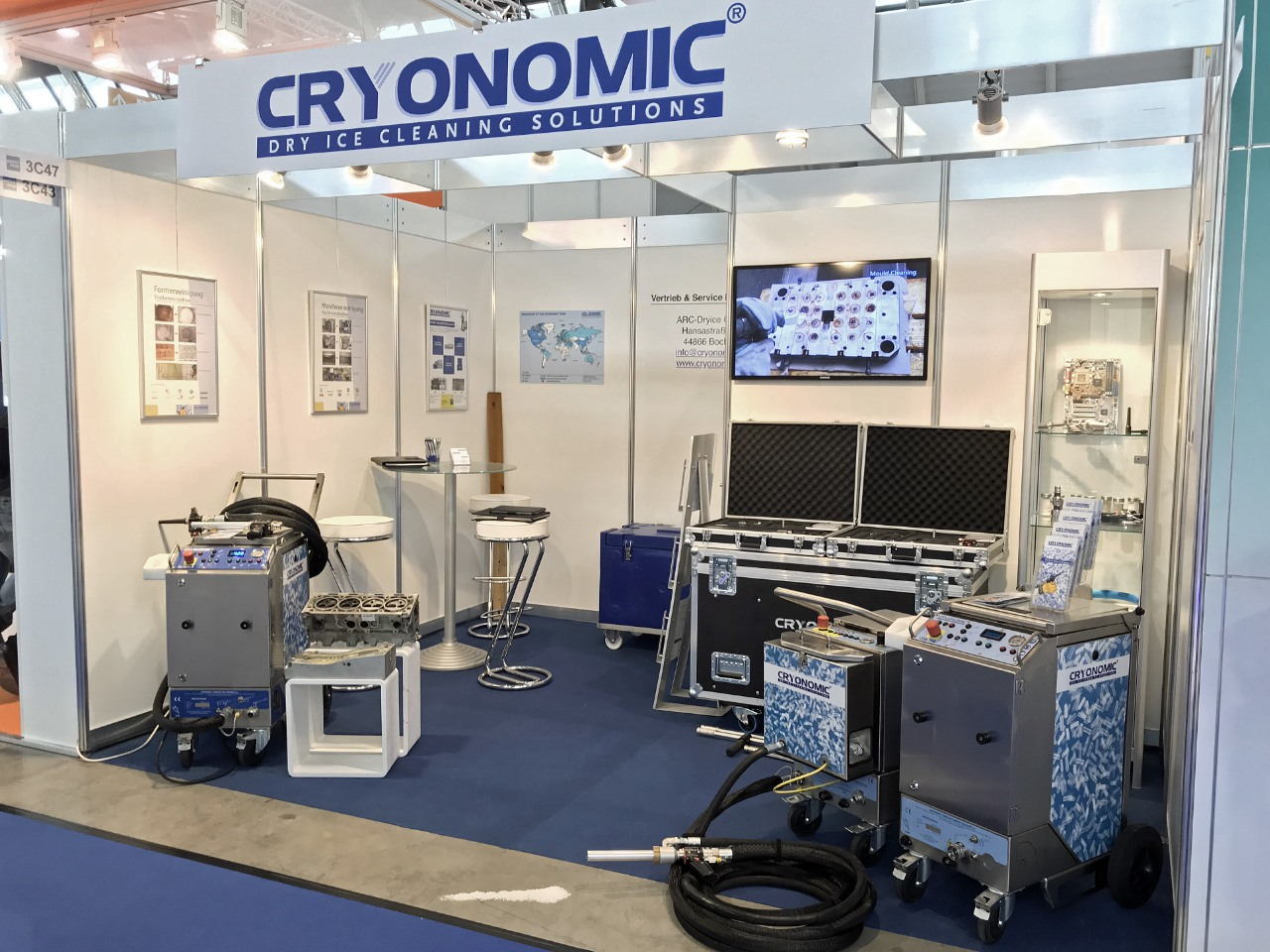 Cryonomic Messestand  Trockeneis ARC-Dryice